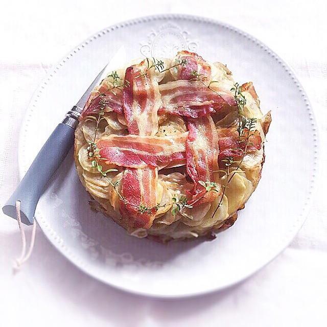 Potato & Bacon Cake