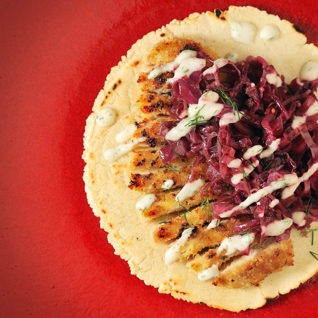 Pork Schnitzel Taco