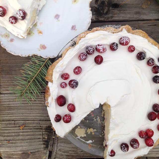 Sour Cream Cranberry Pie