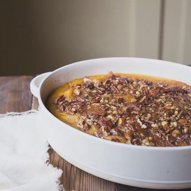 Roasted Acorn Squash With Maple Nut Praline