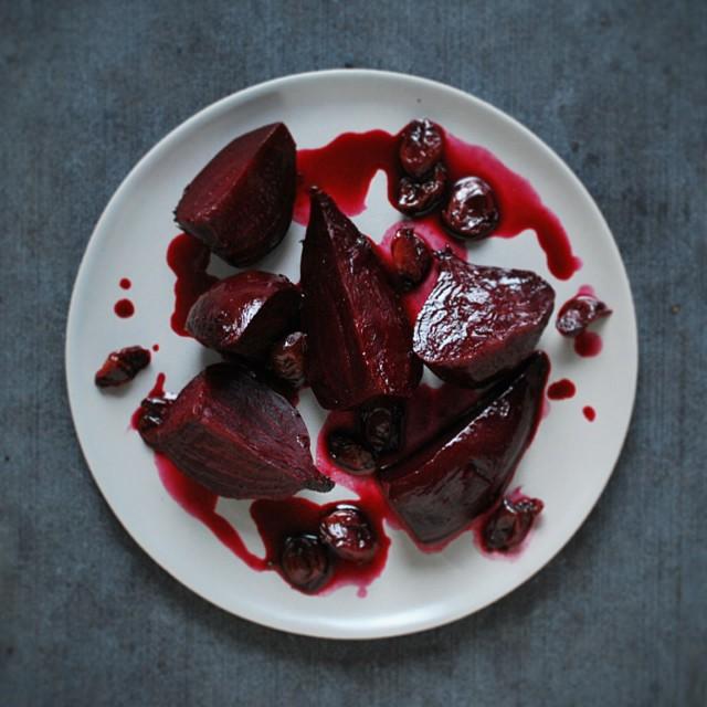 Beets Braised In Red Wine & Balsamic Vinegar