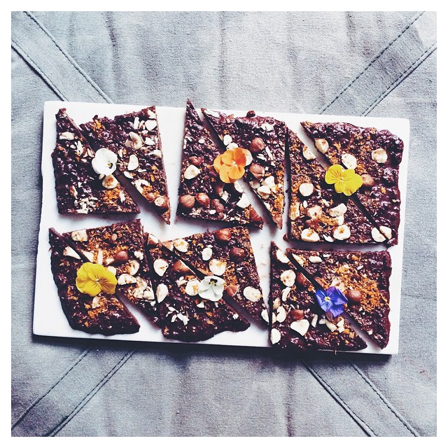 Chunky Sea Buckthorn And Hazelnut Raw Chocolate