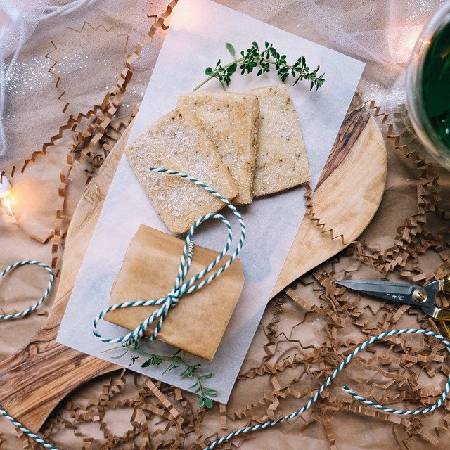 Brown Butter Thyme Shortbread Cookies