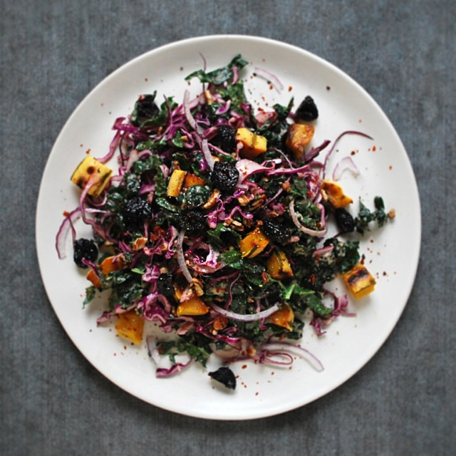 Holiday Slaw With Roasted Shallot Vinaigrette