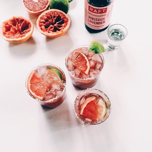 Grapefruit Hibiscus Margaritas