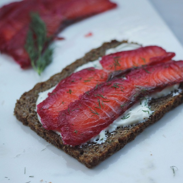 Home-cured Beetroot & Gin Gravlax