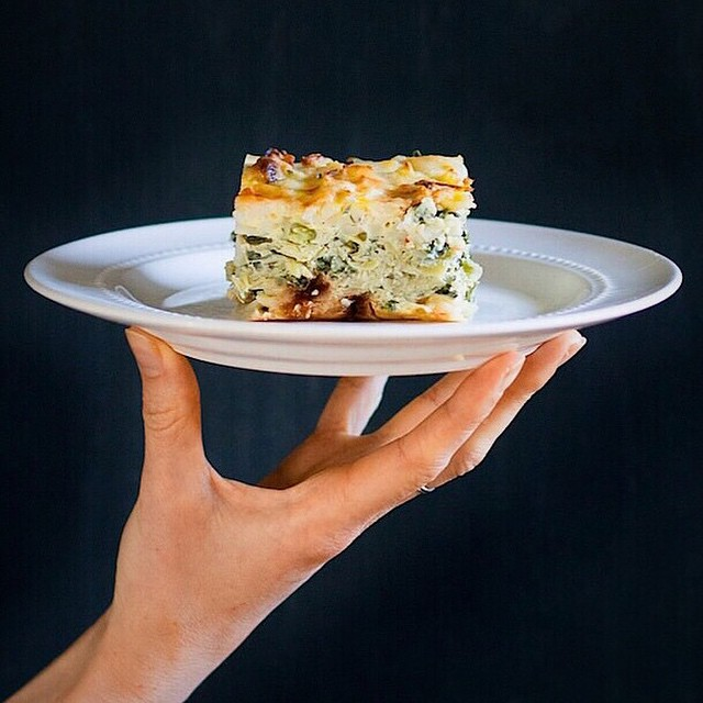 Layered Vegetarian Egg Bake