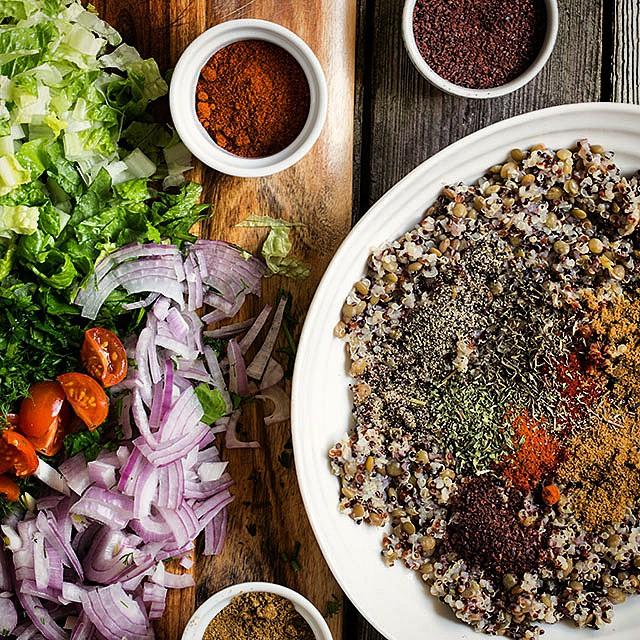 Spicy Lentil Quinoa Salad