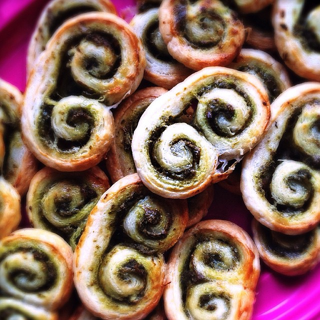 Puff Pastry Pesto Palmiers!