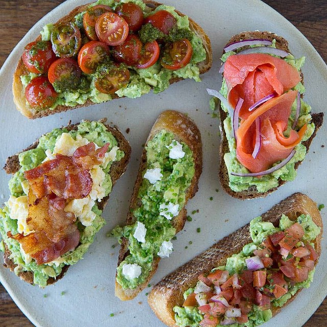 Avocado Toast – 5 Ways!