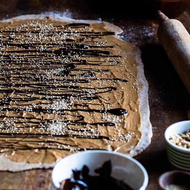 Whole Wheat Tahini Chocolate Bread