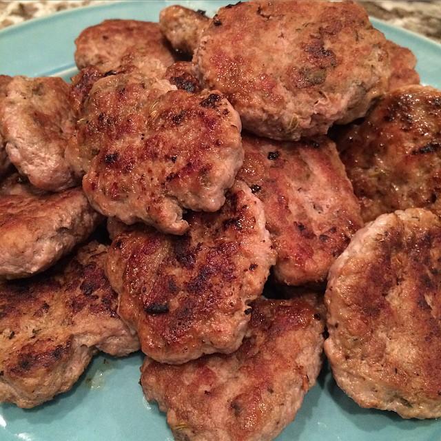 Turkey-fennel-flax Breakfast Sausages