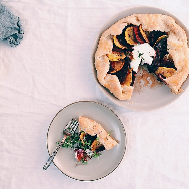 Beet Thyme Galette With Balsamic