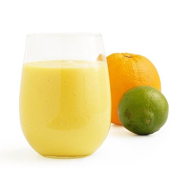 Mango, Orange, And Lime Smoothie