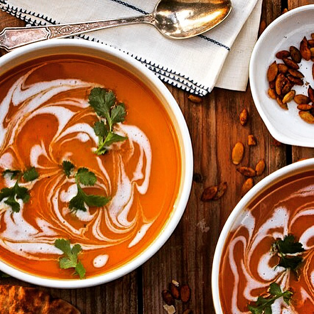 Red Curry Butternut Squash Soup With Cumin