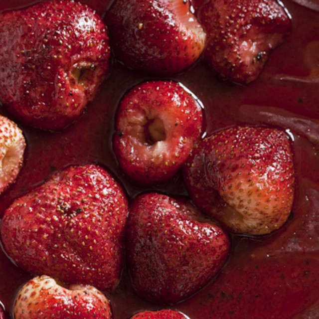 Roasted Strawberries With Basil