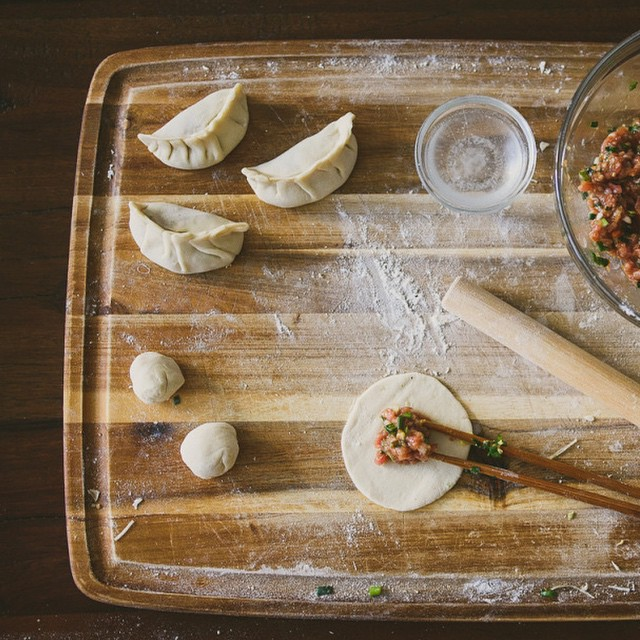 Making And Packing Dumplings For Lunch