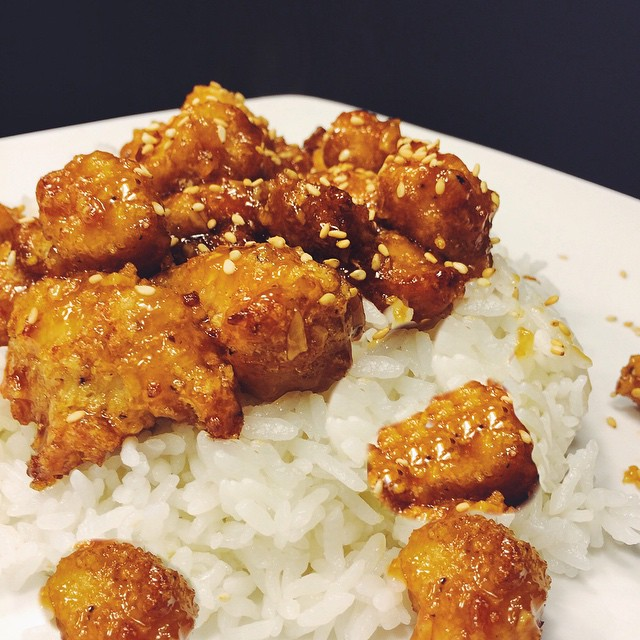 General Fatty's Spicy Sriracha Honey Chicken
