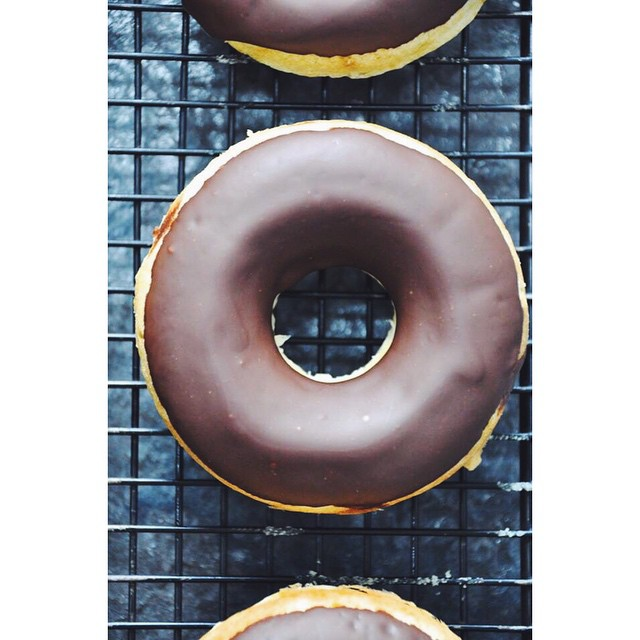 Baked Doughnuts With Chocolate And Peanut Butter Glaze