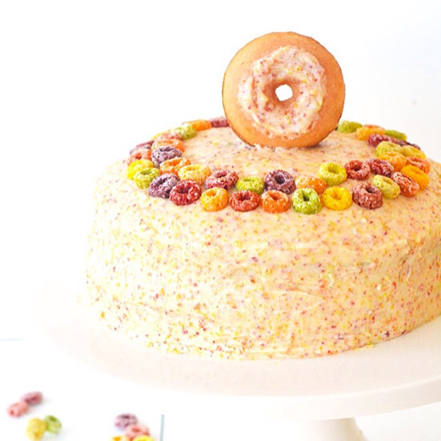 Fruit Loop Cereal Milk Layer Cake