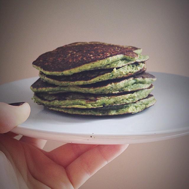 Greek Yogurt Pancakes With Spinach