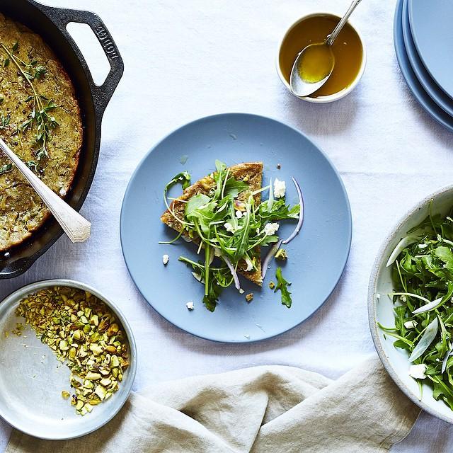 Thyme & Sumac Socca With Arugula & Ahaved Fennel Salad