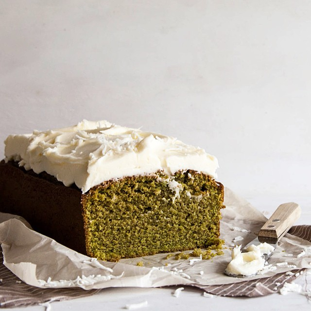 Matcha Cake With Fluffy Coconut Frosting