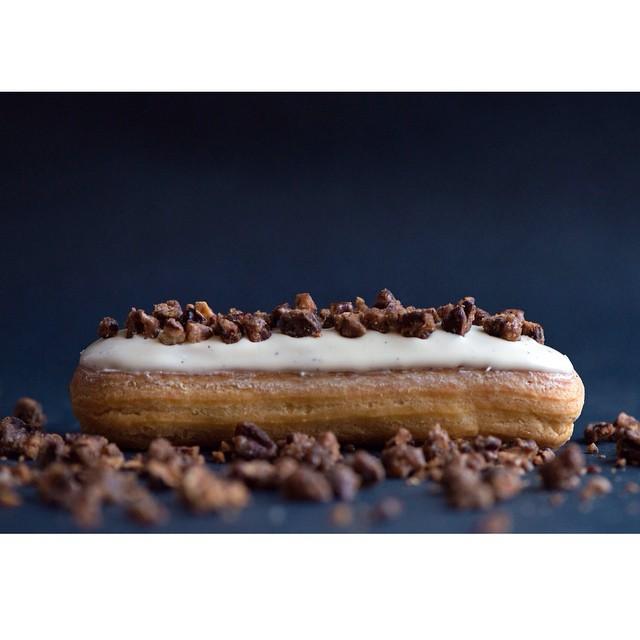 Vanilla Caramelized Pecan Eclairs