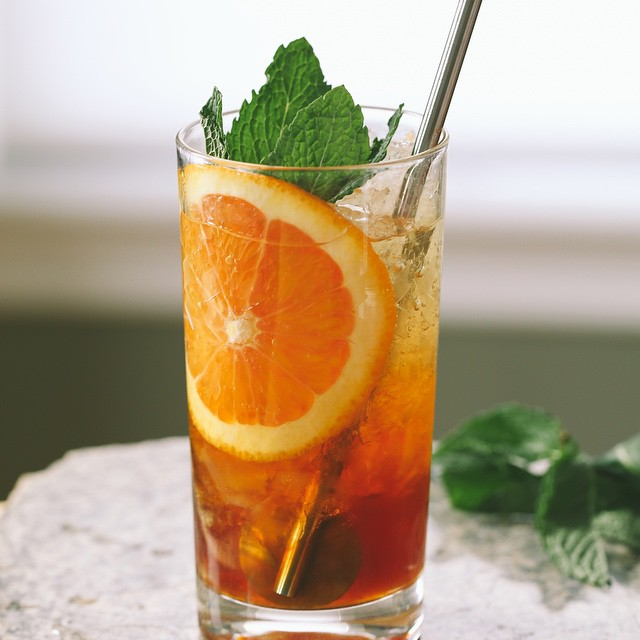 Sweet Vermouth Cobbler With Fresh Mint