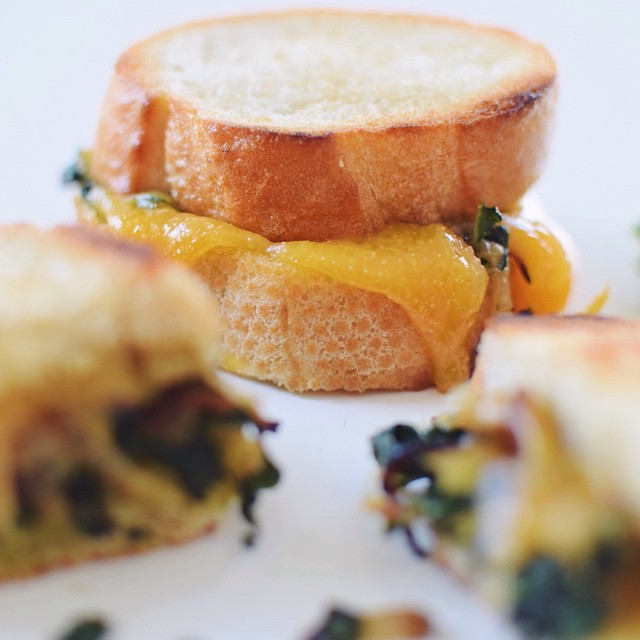 Caramelized Fennel, Onion & Kale Grilled Cheese