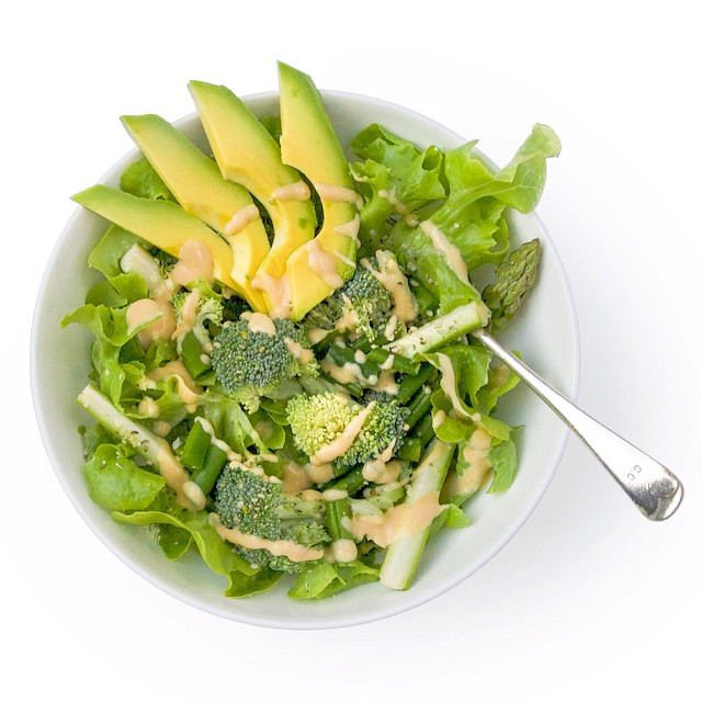 Green Salad With Ginger & Miso Dressing
