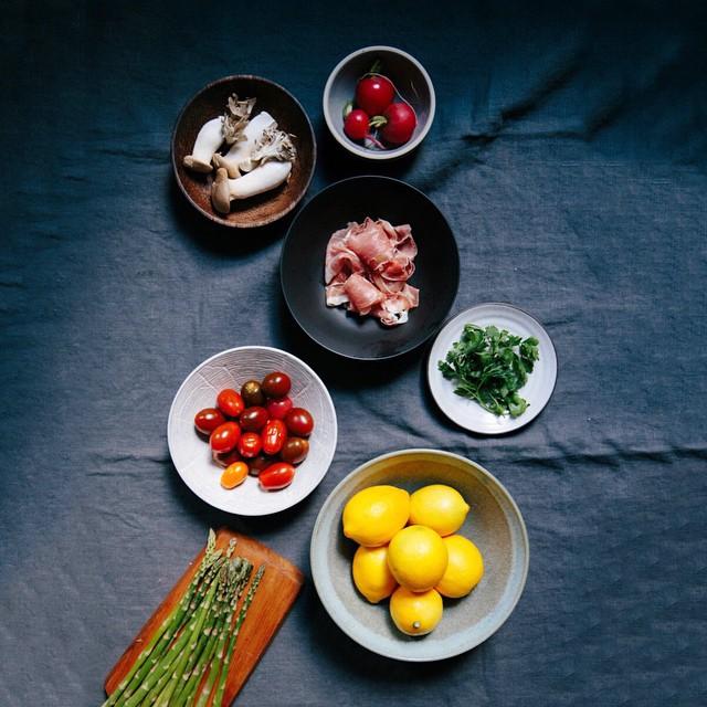 Grilled Asparagus Panzanella
