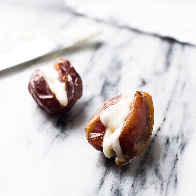 Coconut Butter Stuffed Dates