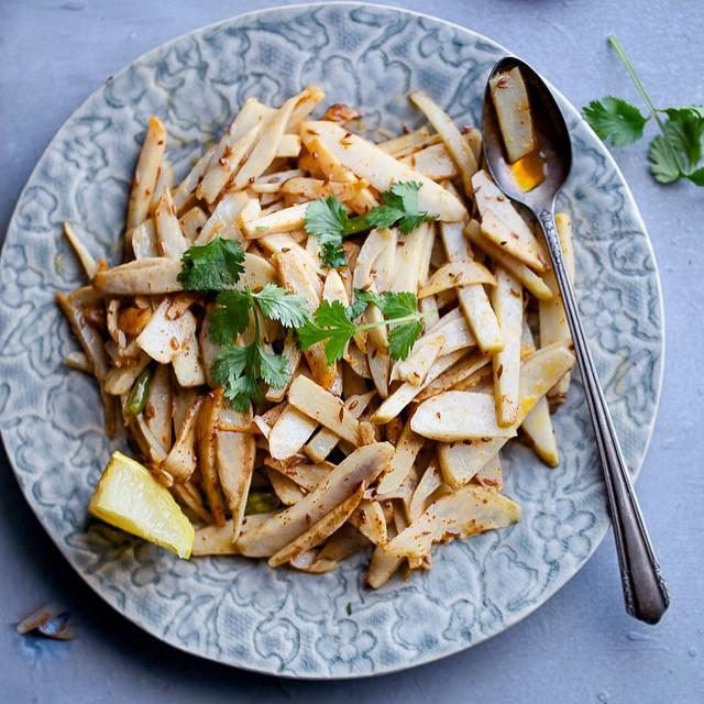 Stir Fried Arbi (taro Root)