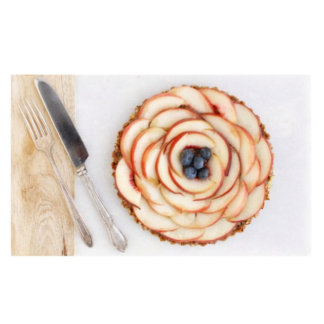 Peach & Blueberry Hazelnut Tart