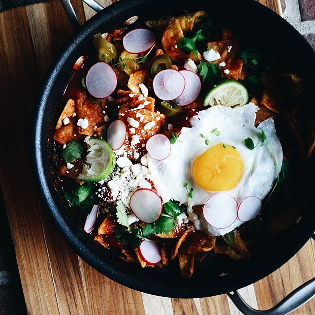 Chilaquiles With A Fried Egg And Honey