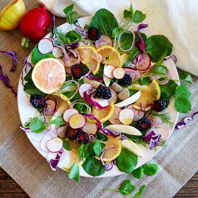 Watercress & Blackberry Salad