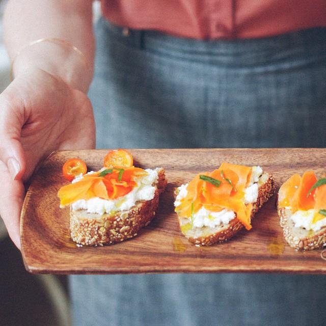 Tarragon, Kumquat & Baby Carrot Ricotta Toast