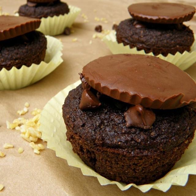 Chocolate Freekeh Muffins
