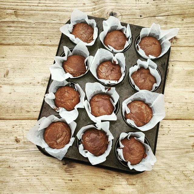 Kladdkaka (swedish Sticky Chocolate Cake) Muffins