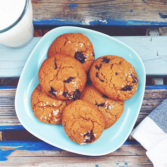 Brown Butter Chocolate Chip Cookies With Smoked Salt
