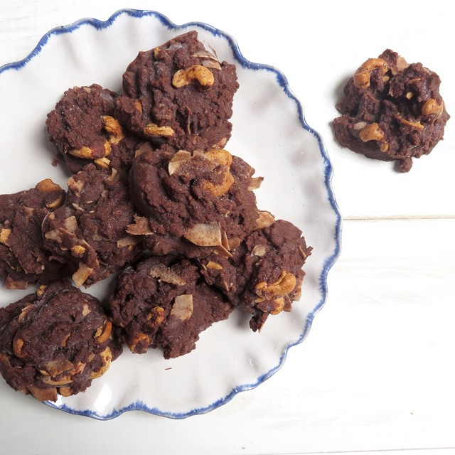 Chocolate Coconut Chewy Candies