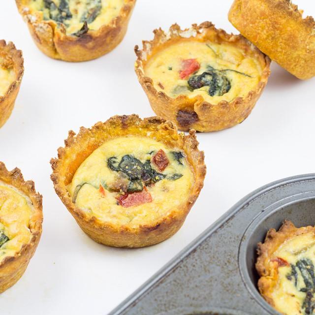 Sweet Potato Crusted Mini Quiche