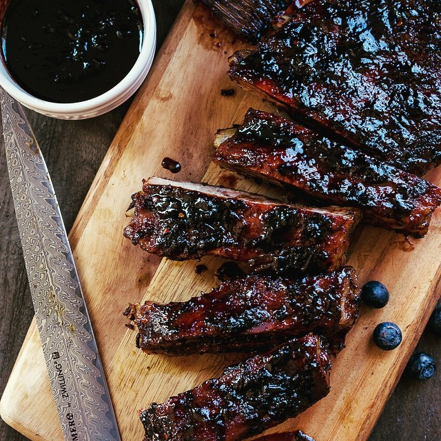 Spicy Baby Back Ribs With Blueberry Balsamic Barbecue Sauce