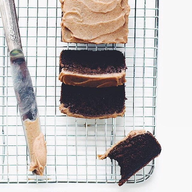 """chocolate"" Carob Bread With Date Caramel Frosting"
