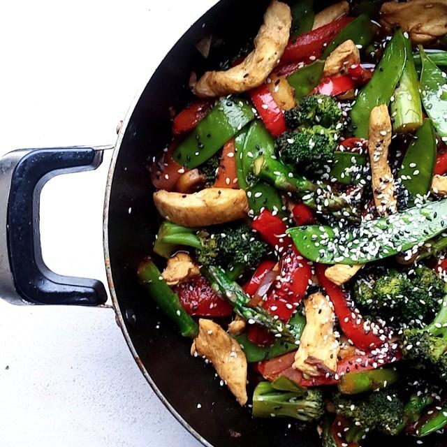 Kitchen Sink Chicken Stir-fry