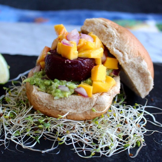 Grilled Beet Sliders With Summer Salsa