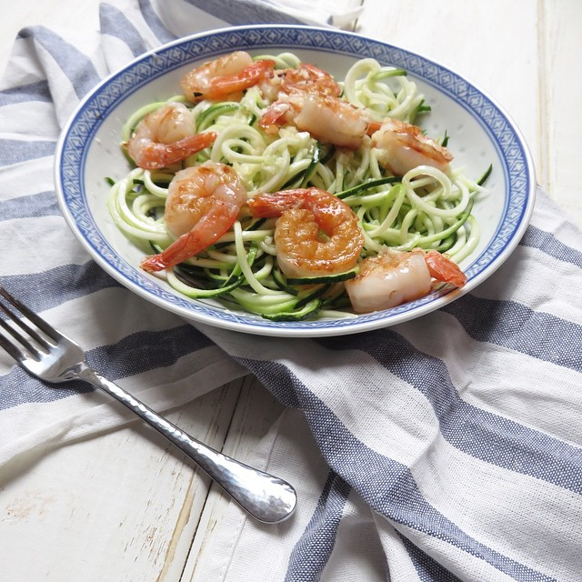 Coconut Garlic Shrimp With Zoodles