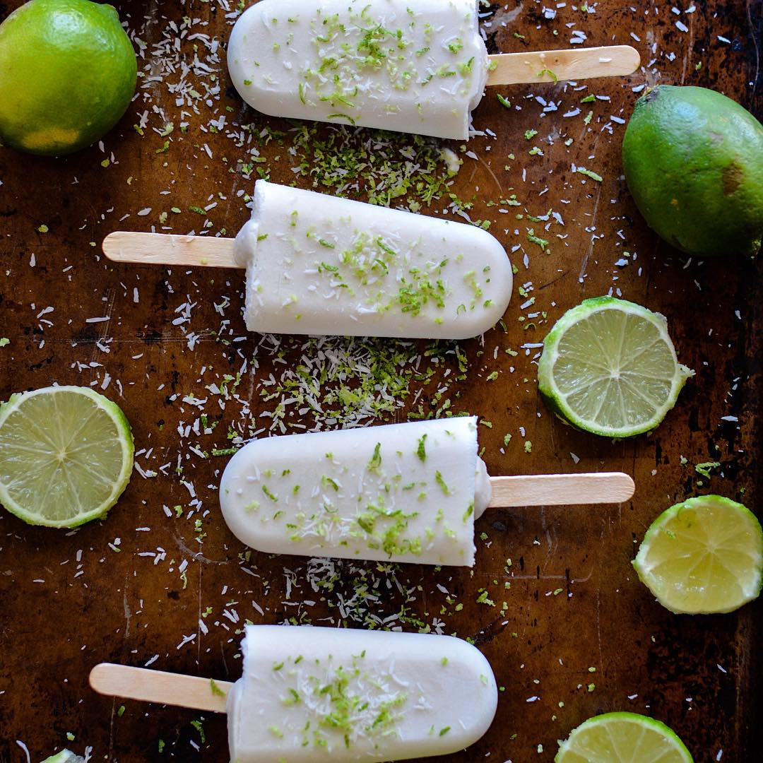 Coconut Lime Ice Pops
