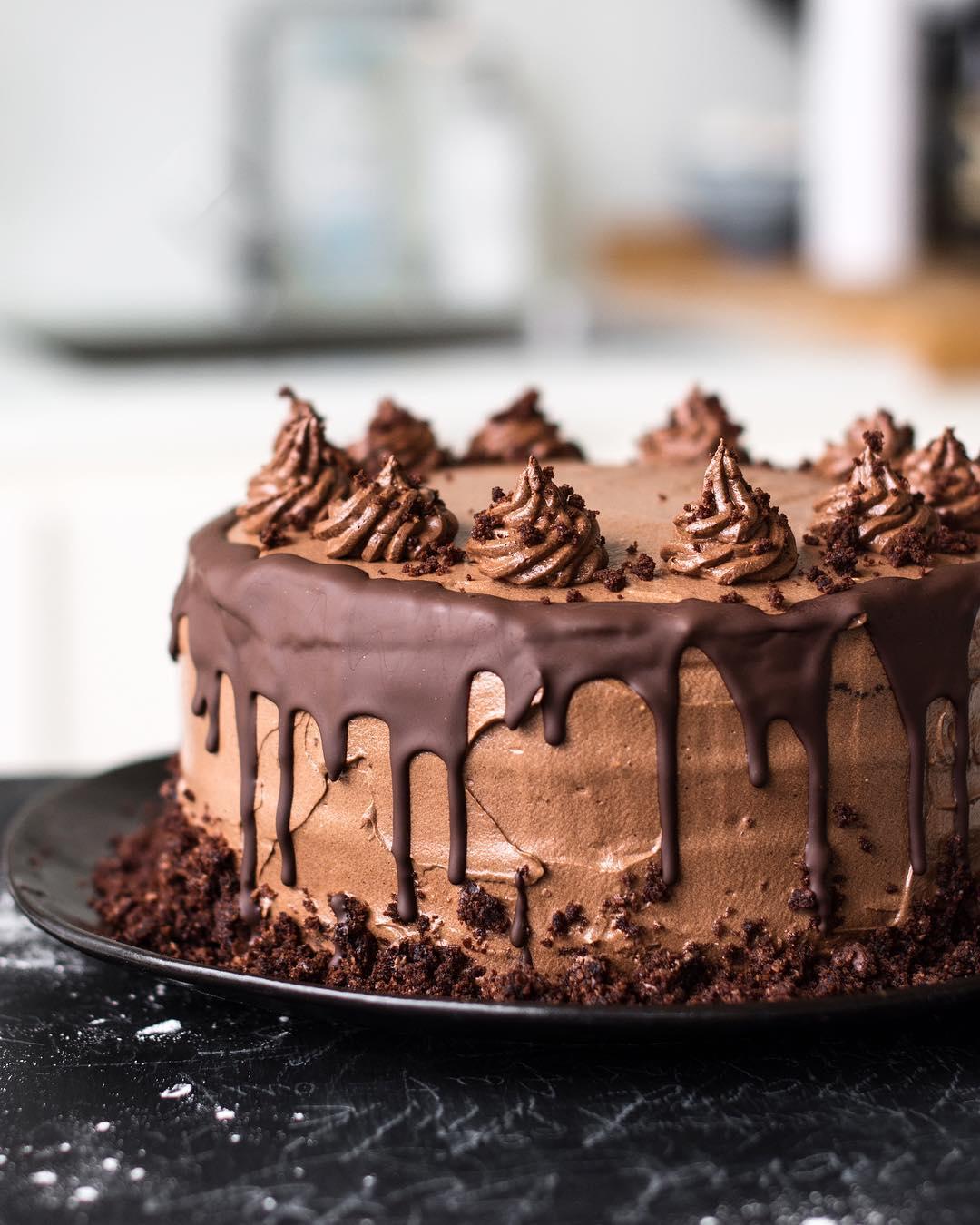 Triple Chocolate Cake Recipe The Feedfeed